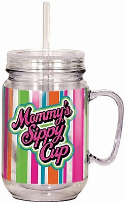 Spoontiques Mommy's Sippy Cup 18oz Acrylic Mason Jar (17921) 2691444