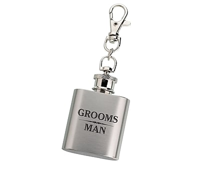 Lillian Rose Mini Black Flask - Groomsman (FL670 GM) 2621931