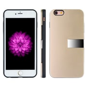 Luxury Card Holder Hybrid Stand Case for iPhone 6 / 6S, Gold (APLLEA006)