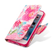 Design Wallet Stand Case for iphone 6s, Water Flower (APLLEA325)
