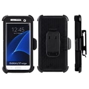 Anti-Shock Hybrid Heavy Duty Holster Case for Galaxy S7 Edge, Black (SAMCRC749)