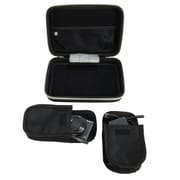 Harlin Durable Hard Cover Cube with Handle and Dual Zipper, Black (RDYLEA097)