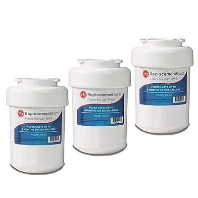 ReplacementBrand 3-Pack Refrigerator Filter for GE MWF Refrigerator (RB-G1) 2662584