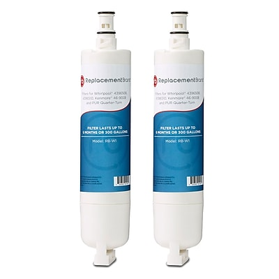 ReplacementBrand 2-Pack Refrigerator Filter for Whirlpool 4396508/4396510 Refrigerator (RB-W1) 2662599