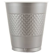 JAM Paper® Plastic Cups, 12 oz, Silver, 200/box (255525373b)