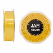 JAM Paper® Double Faced Satin Ribbon, 7/8 inch Wide x 25 yards, Yellow, Sold Individually (807SAye25)