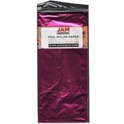 JAM Paper® Tissue Paper, Foil, Fuchsia Pink Mylar, 3/pack (1172416)