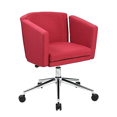 Boss Metro Club Desk Chair Marsala Red B416c Mr Staples 174