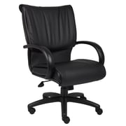 Boss Mid Back Black LeatherPlus Executive Chair (B9706)