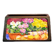 Carolines Treasures Primroses Decorative Desktop Professional Wooden Business Card Holder (CRlT16335)