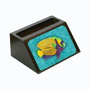 Carolines Treasures Turtle Decorative Desktop Professional Wooden Business Card Holder, 4 x 1.25 x 2 in. (CRlT13605)