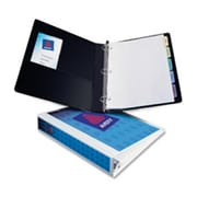Avery Consumer Products View Binder- EZ-Turn Ring- w- Four Pockets- 1in. Cap.- Blue (SPRCH10632)