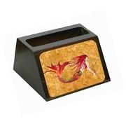 Carolines Treasures Ginger Red Headed Mermaid On Gold Business Card Holder (CRlT80640)