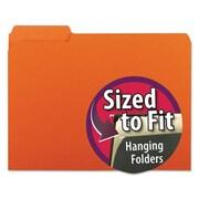 Smead Manufacturing Interior File Folders, 0.3 Cut Top Tab, letter - Orange (AZTY14352)