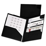 Oxford 11 x 8.5 Divide It Up Four-Pocket Poly Folder - Black (AZTY10642)