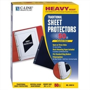 C-line Products Traditional Polypropylene Sheet Protector Heavyweight 11 x 8 .5 50-Bx - Set of 2 Bx (ClNP001)