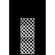 Urban Trends Collection Metal Rectangular Wall Mail Organizer With 2 Tiers and Peforated Quatrefoil Pattern - White (UBNT4362)
