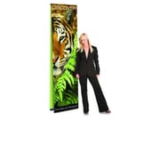 Testrite Visual Products Ultra UB Banner Stands 36 in. Double Ultra Banner Stand- Black (TTVSP252)