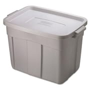 Rubbermaid. Roughneck Storage Box, 1gal, Steel Gray (AZERTY21339)