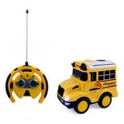 Az Import and Trading School Bus RC Toy Car for kids with Steering Wheel Remote (AZIMPT02412)