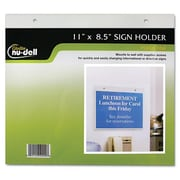 Glolite Nudell, llc Clear Plastic Sign Holder, Wall Mount, 8 1/2 x 11 (AZERTY20691)