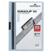Durable Office Products DuraClip Report Cover 60 Sheet Capacity 11 in. x 8.5 in. Blue (SPRCH30938)