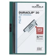 Durable Office Products DuraClip Report Cover 30 Sheet Capacity 11 in. x 8.5 in. TlGN (SPRCH30924)