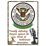 12 in. x 17 in. Tin Sign - Woodland Security (GS184653)