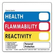 lmt Warehouse Self-Adhesive label - Health, Flammability, Reactivity Vl (AZTY09145)
