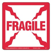 lmt Shipping and Handling Self-Adhesive label, 4 x 4, Fragile (AZTY09172)
