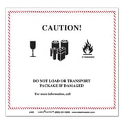 lmt Hazmat Self-Adhesive Shipping label, 4.75 x 4.37 in., Caution (AZTY09169)