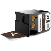 2 in. All Purpose Vinyl Tape, White and Brown (ESSEN8065)