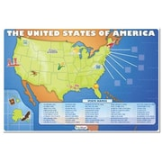 Incrediline Oh Say Can You See-US Map Mural - Incrediwall - 36 Inches x 24 inches (INCR048)