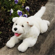 Sunny Toys 10 In. Puppy - White, lying, Animal Puppet (SNTY299)