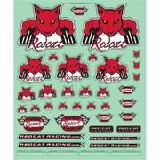 Redcat Racing Die Cut Redcat Stickers - 9 x 10.5 in. (RCR03143)