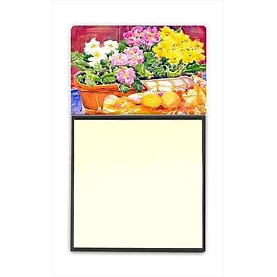 Carolines Treasures Flower - Primroses Refiillable Sticky Note Holder or Postit Note Dispenser, 3 x 3 In. (CRlT59879) 2635481