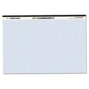Roaring Springs landscape Format Writing Pad Quad Ruled 11 x 9-1/2 White 40 Sheets/Pad (AZROA74505)