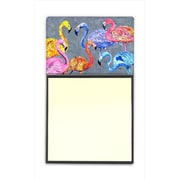 Carolines Treasures Flamingo Six Senses Refiillable Sticky Note Holder or Postit Note Dispenser, 3 x 3 In. (CRlT60079)