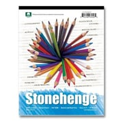 Stonehenge 9 in. x 12 in. Versatile Artist Papers Pad - 15 Sheets of White (AlV14493)