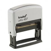 Us Stamp Trodat Economy 12-Message Stamp Dater Self-Inking 2 x 3/8 Black (AZUSSE4817)