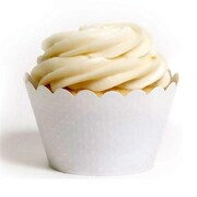 Dress My Cupcake Solid Cupcake Wrappers, Emma White, Pack of 48 (DMCC001)