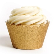 Dress My Cupcake Gliter Cupcake Wrappers, Gold Platinum , Pack of 48 (DMCC048)