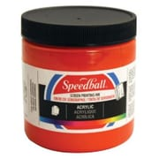 Speedball Art 8 oz. Acrylic Screen Printing Ink Fire Red (AlV30420)