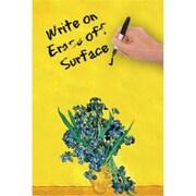 Canvas Snapshot Irises by Van Gogh Dry Erase Image Board (AlV32073)