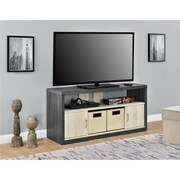 """Altra Winlen TV Stand for TVs up to 50"""" with 2 Fabric Bins, Espresso/Light Brown (1798096COM)"""
