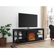 """Ameriwood Home Parsons Electric Fireplace TV Stand for TVs up to 65"""", Black (1816196COM)"""