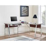 Altra Wingate Glass Top L Desk, Cherry (9105296COM)