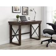 Ameriwood Home Wildwood Wood Veneer  Desk, Espresso (9835196COM)