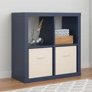 Altra Parsons Hollow Core 4 Cube Organizer, Blue (7682596COM)