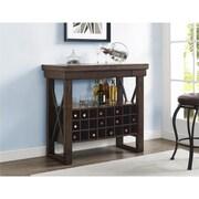 Altra Wildwood Wood Veneer Bar Cabinet, Mahogany (5287196COM)